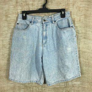 Vintage Sonoma Light Wash High Waist Denim Shorts